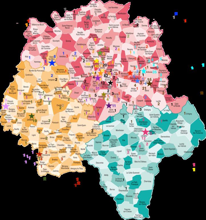 Cartes Indre et Loire Comité Régional Centre Val de Loire